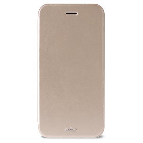 "PURO Flip Cover in Ecopelle per iPhone 6 Plus ""Booklet Crystal"" - Oro"