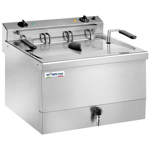 Friggitrice FR18 Capacità 18 Litri 9000 Watt Colore Acciaio Inossidabile