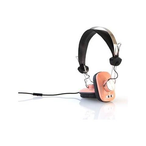 Eskuche Cuffie con Microfono Cablato Vintage Colore Rosa