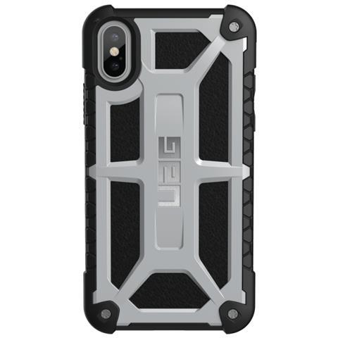 UAG Cover per iPhone X Colore Argento e Nero