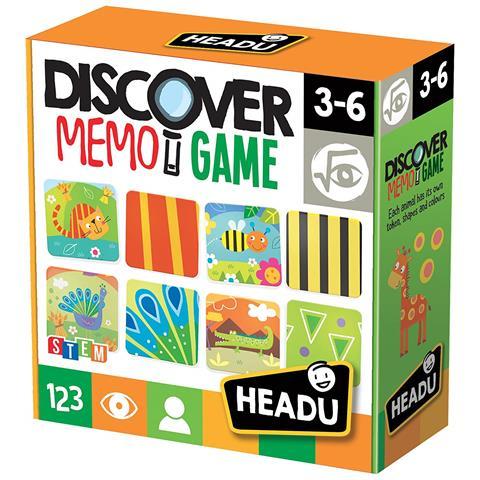 Headu Giochi educativi It20713 - Discover Memo Game