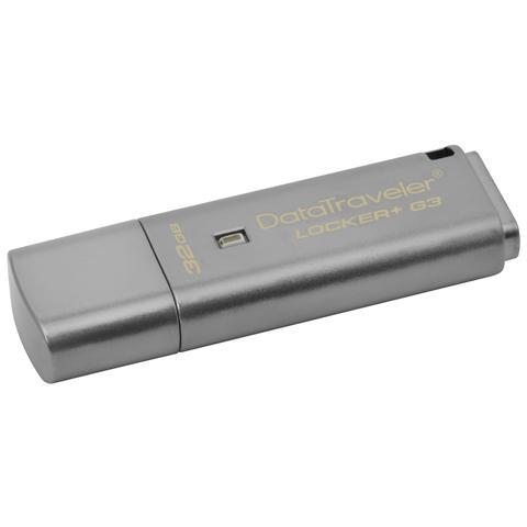 Chiavetta USB 64 GB DataTraveler Locker+ G3 Interfaccia USB 3.0 Colore Argento