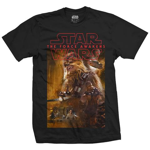 ROCK OFF Star Wars Episode VII - Chewbacca Composition (T-Shirt Unisex Tg. S)