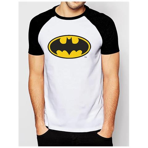 CID Batman - Logo Raglan Baseball (T-Shirt Unisex Tg. M)