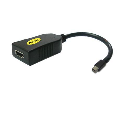 Accell B086B-002B, HDMI F, DisplayPort M, Maschio / femmina, Nero