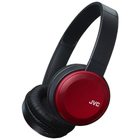 JVC Cuffie con Microfono Bluetooth HA-S30BT-R Colore Nero e Rosso