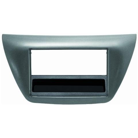 Phonocar Adattatore autoradio 03384 Mascherina con foro ISO / Doppio DIN colore grigio metallo. Lancer Evo