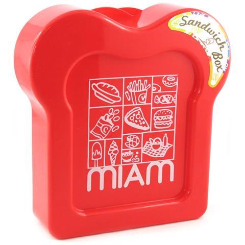 panino box 'coloriage' rosso - [ m3960]