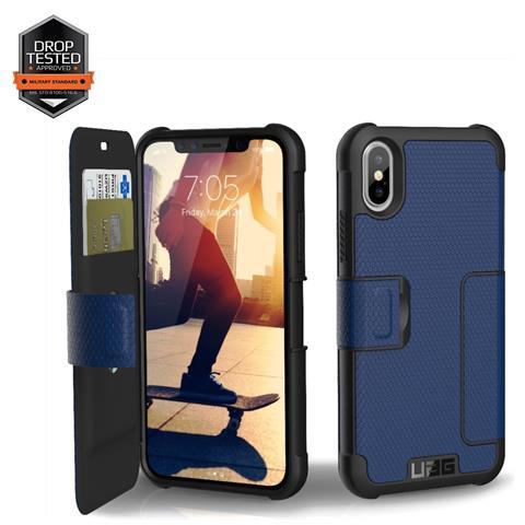 UAG Flip Cover Custodia per iPhone X Colore Blu e Nero