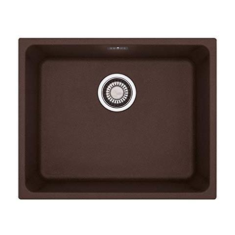 Lavello Kubus Sottotop Da Incasso KBG11050 Colore Dark Brown 1 Vasca