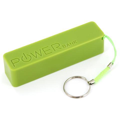 XLAYER Colour Line Green 2.600, Polimeri di litio (LiPo) , USB, Verde, Micro-USB, Plastica, Universale