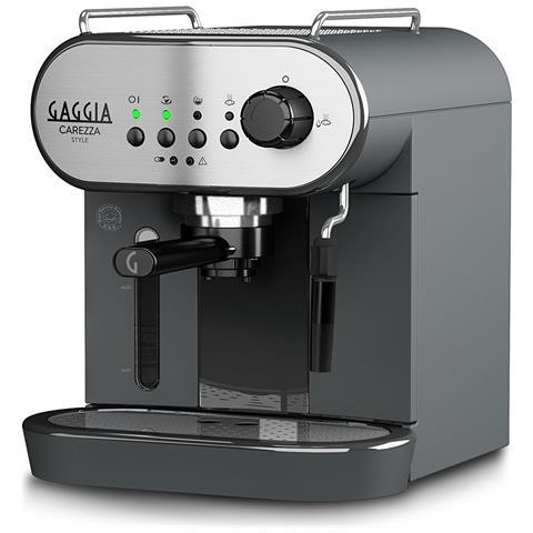 Macchina Da Caffè Carezza Style Manuale 15 Bar Colore Nero / Argento