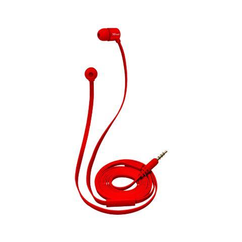 TRUST Duga Cuffie in-ear per tablet e smartphone - red