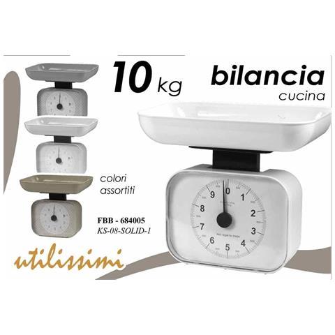 Bilancia Da Cucina Meccanica Analogica Rettangolare 10 Kg Colori Assortiti