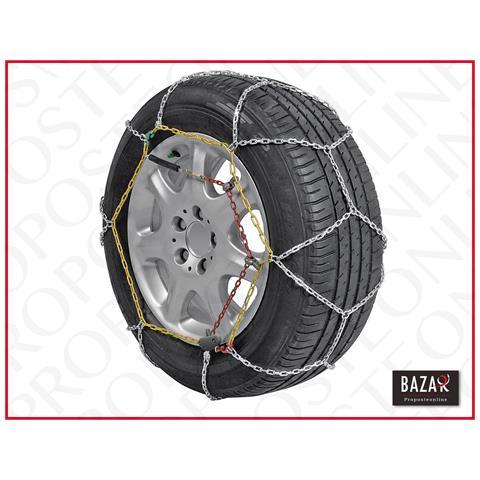 Catene da neve a rombo spessore 9mm per auto pneumatico 205//45R17  2054517