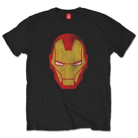 ROCK OFF Marvel Comics - Iron Man Distressed (T-Shirt Unisex Tg. S)