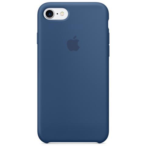 APPLE Cover in Silicone per iPhone 7 - Blu Oceano