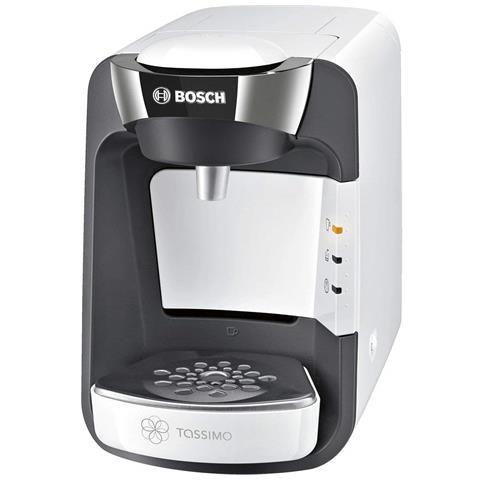 Macchina da Caffè Semi-automatica TASSIMO SUNY Serbatoio 0.8 Lt. Potenza 1300 Watt Colore Cromo / Bianco