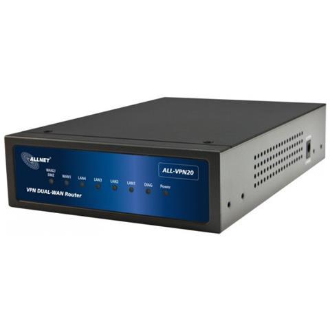 Image of ALL-VPN20 Collegamento ethernet LAN ADSL Nero router cablato