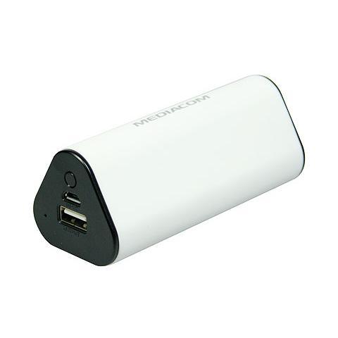 MEDIACOM Power Bank Batteria Esterna 7800 mAh - Bianco