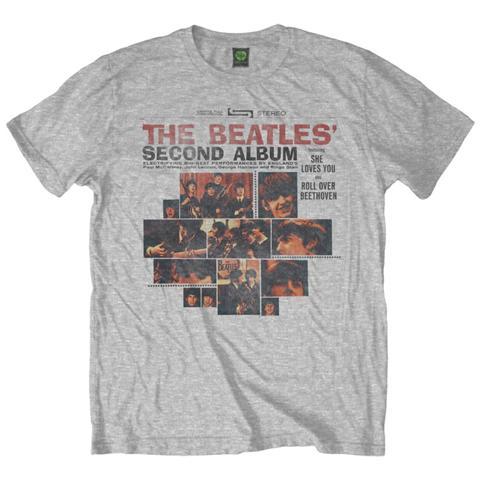ROCK OFF Beatles (The) - Second Album Grey (T-Shirt Unisex Tg. M)