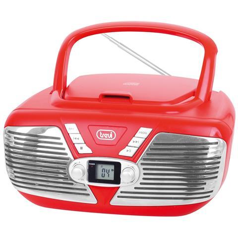 TREVI Stereo Portatile Cd Mp3 Cmp 562 Usb Rosso