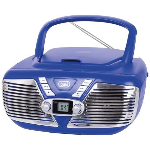 TREVI Stereo Portatile Cd Mp3 Cmp 562 Usb Blu