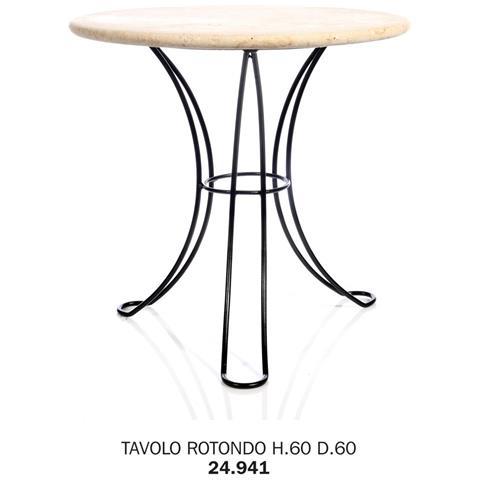 Tavolo Rotondo H. 60 D. 60 Pianale Rete Metallica