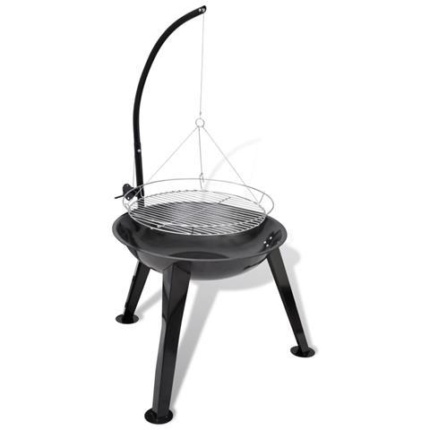 Barbecue A Carbonella Sospeso Forma Rotonda