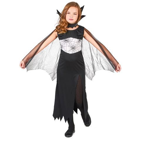 JADEO - Costume Da Strega Con Ragnatele Bambina 4 A 6 Anni 7f9a9cf7635f