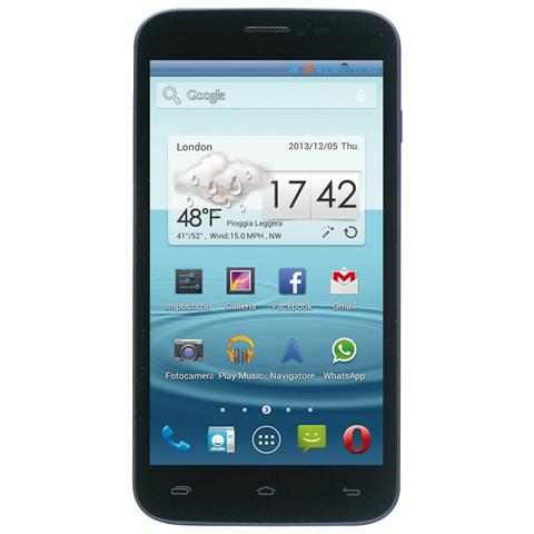 "MEDIACOM Phonepad Duo G500 Rubber Blu Display 5"" Android WiFi 3G Bluetooth 4 GB Doppia Fotocamera 8 Mpx e 2 Mpx - Italia"