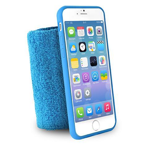 PURO Custodia Da Polso ''running Band'' Iphone 6 / 6s Con Taschina Blu
