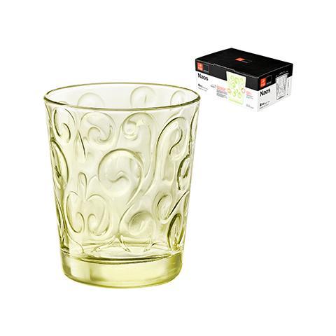 Set 6 Bicchieri Vetro Naos Lime Cl30 Set Da 6