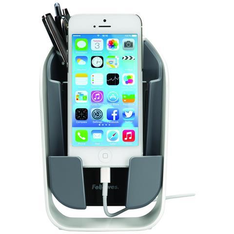 FELLOWES 9381302 Interno Passive holder Nero, Grigio, Bianco supporto per personal communication
