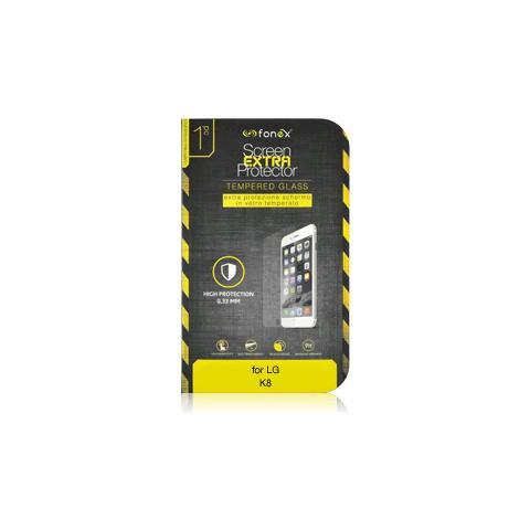 FONEX Protezione Schermo in Vetro Temperato per LG K8 (1Pz)