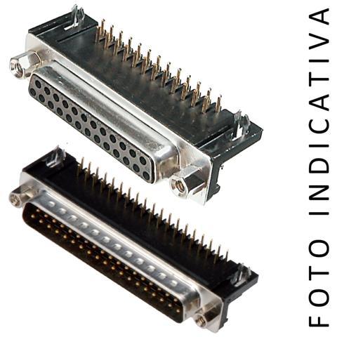 C-Industries CONNETTORE D-SUB STAMPATO 37 POLI F DA CS A 90GRADI p. 9,4mm