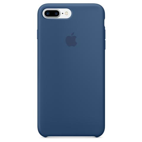 APPLE Cover in Silicone per iPhone 7 Plus - Blu Oceano