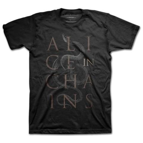 ROCK OFF Alice In Chains - Snakes Black (T-Shirt Unisex Tg. S)