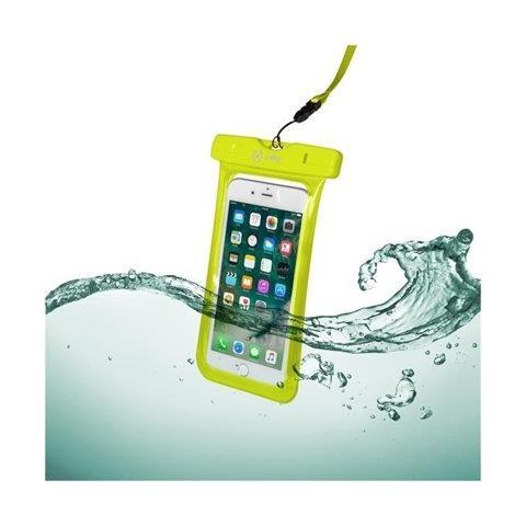 CELLY Custodia impermeabile SplashBag per smartphone da 6.2'' colore Giallo