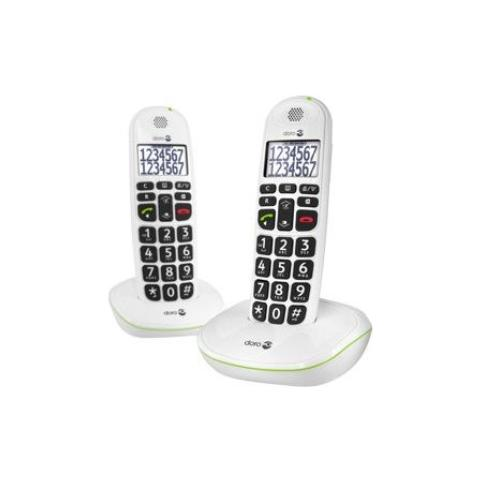 Doro Phoneeasy 110 Cordless Duo White Big Button