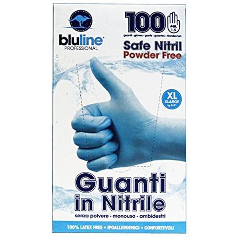 Bluline Guanti X 100 Nitrile Bluline Xl Giardinaggio