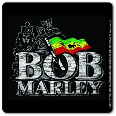 Bob Marley: Distressed Logo (sottobicchiere)