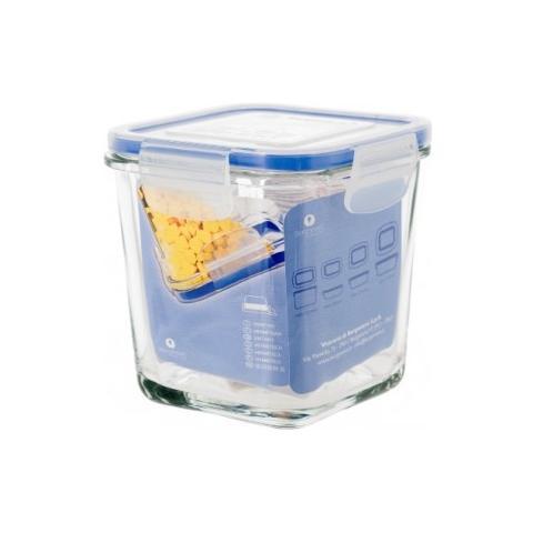 Contenitore Frigo Quadrato Alto Cm. 11x11 H. 12 Vetro Superblok