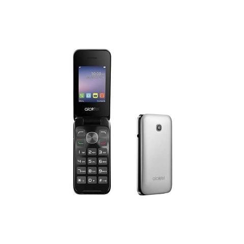 """ALCATEL 20-51D Metal Silver Dual Sim Display 2.4"""" +Slot MicroSD Wi-Fi Fotocamera 2Mpx - Italia"""