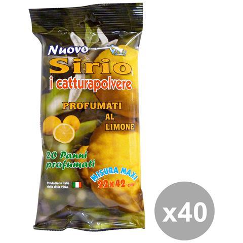 Sirio Set 40 Panni Polvere Limone X 20 Pezzi Attrezzi Pulizie