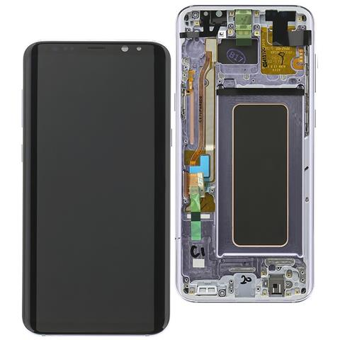 Image of Lcd Touch Display Orchid Viola Ioriginale Samsung Per Galaxy S8+ Plus Sm-g955