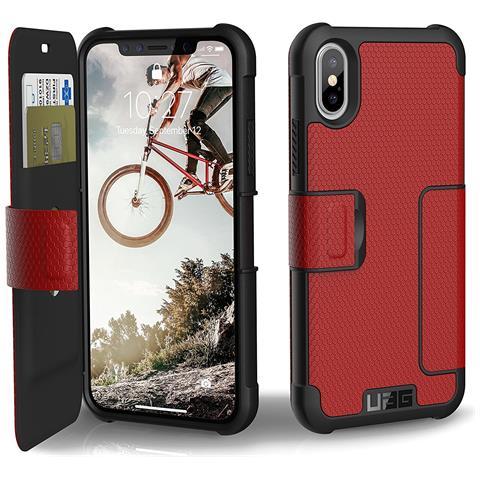 UAG Flip Cover Custodia per iPhone X Colore Rosso e Nero