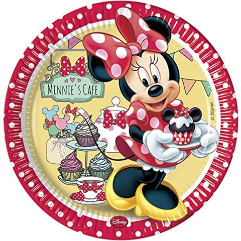 COMO GIOCHI Minnie's Cafe' - 8 Piatti 23 Cm