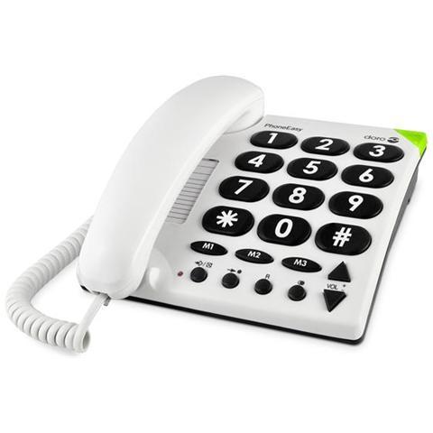 Doro PHONEEASY 311c CORDED WHITE BIG BUTTON