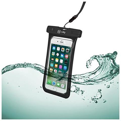 CELLY Custodia impermeabile SplashBag per smartphone da 6.2'' colore Nero